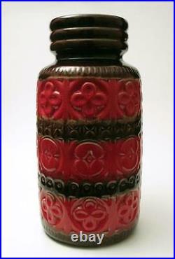 Vintage Retro West German Pottery Vase MID Century Modern Eames Era