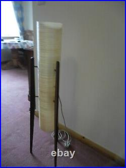 Vintage Rocket Floor Lamp 60's 70's Yellow Spun Fibreglass MID Century