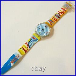 Vintage SWATCH Watch Bikini Beach G2S35 2004 Yellow Blue