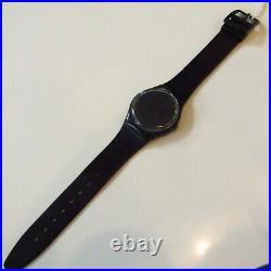 Vintage SWATCH Watch Blackout GB105 1985 Original Strap READ
