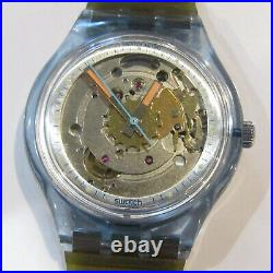 Vintage SWATCH Watch Blue Matic SAN100 Automatic 1991 1st Edition NEW