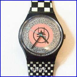Vintage SWATCH Watch Mackintosh GB116 1987 Checkers