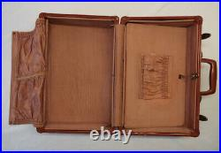 Vintage Samsonite 50's A shape small suitcase travel case Brown