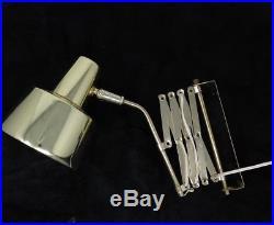 Vintage Scissor Extension Lamp Light Brass Space Age Mid Century Modern Retro