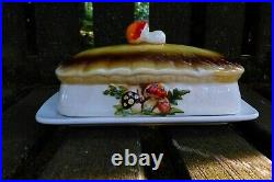 Vintage Sears Merry Mushroom 1978 2 Piece Butter Dish