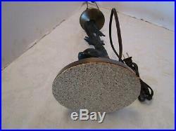 Vintage Solid Brass KOI Fish TABLE LAMP Mid-century 24 ¾t Retro