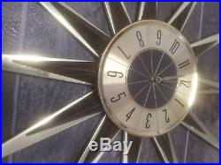 Vintage Starburst Wall Clock MID CENTURY MODERN Elgin Atomic WORKS mcm RETRO