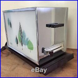 Vintage Sunbeam Toaster MCM Leaves Pattern Bakelite Mid-Century Modern Retro