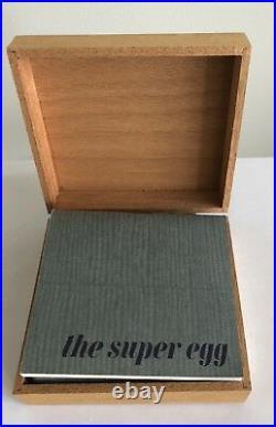 Vintage Super Ellipse Silver Plated Egg in Wood Box by Piet Hein, Denmark 1965