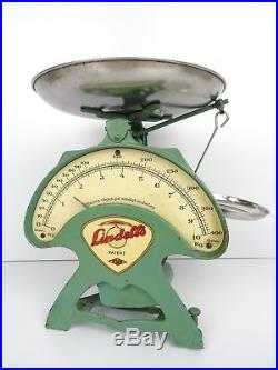 Vintage Swedish Kitchen Scale Lindells Metric Metal Mid Century Retro