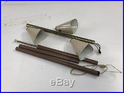Vintage TENSION POLE LAMP mid century modern light floor retro 50s/60s beige 3