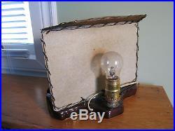 Vintage TV LAMP 1950s HORSE Ceramic MID CENTURY FIBERGLASS Shade RETRO Planter