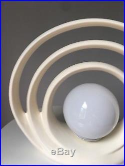 Vintage Table Lamp Light Mid Century Mod Orb 3 Ring Retro Atomic