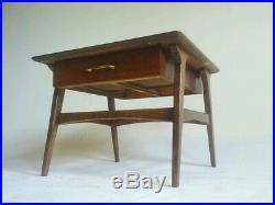 Vintage Teak End Table Nightstand Bedroom Desk Atomic Sputnik Danish Table Eames