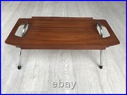 Vintage Teak Foldable Dinner Tray Retro MID Century 60's 70's