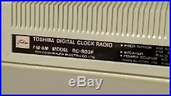 Vintage Toshiba Flip Clock Space Age Mid Century Modern Retro Eames