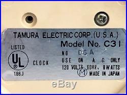 Vintage Ultra Rare Tamura Lumitime C31 Clock Retro Mid Century Space Age Nixie
