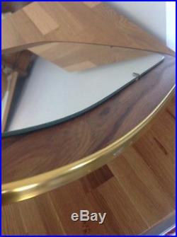 Vintage Wall Mirror Retro Mid Century Asymmetric Gold Faux Teak 1950s 1960s