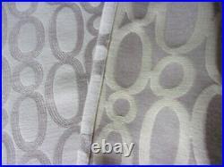 Vintage abstract fabric mid century retro huge satiny drapes curtains 2 panels