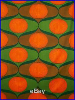 Vintage fabric curtains drapes Mid Century PoP oP Art retro Psychedelic 60s 70's