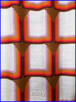 Vintage fabric curtains drapes Rainbow Psychedelic Mid-Century Op PoP Art 70's