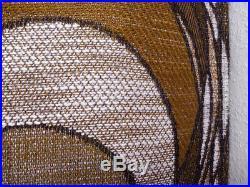 Vintage fabric curtains drapes brown retro Mid-Century OP Art Panton 70's