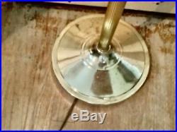 Vintage gold Brass Clam Shell Reading Floor Lamp Mid Century Modern retro