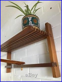Vintage mid century Retro Mid Century SCANDI Shelving wall unit shelf light