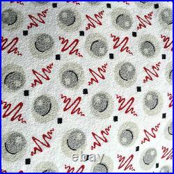 Vintage mid century atomic design barkcloth fabric retro drapery panels curtains