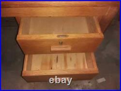 Vintage retro Danish Mid Century Teak wooden office work desk 60s 70s drawers
