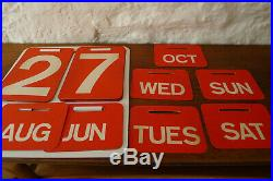 Vintage retro Mid century Conran Ryman perpetual wall hung calendar. 1960's Rare