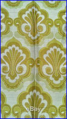 Vintage retro mid century pair of curtains 50's 60's 70's fabric crafts