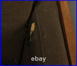 Vintage retro wood oak frame Danish 60s 70s mid century armchair sofa couch x1