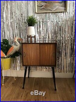 Vinyl record cabinet unit vintage retro mid century