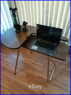 Vtg 1950s MCM Retro Folding Portable Desk-Table- Crafts Sewing Station, Atomic