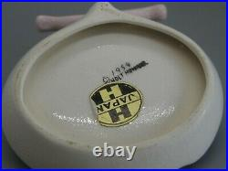 Vtg 1959 HOLT HOWARD PIXIE PIXIEWARE CIGARETTE CERAMIC GREEN ASHTRAY withTAG
