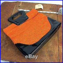 Vtg 60s 50s Mid Century Womens Purse Bag Handbag Atomic Retro Hippy Mod Tweed