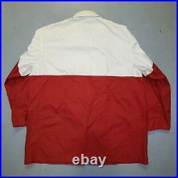 Vtg 90s Ralph Lauren POLO RL CP 93 Fireman Toggle Jacket Sz L Red White RARE
