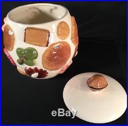 Vtg Cookies All Over Cookie Jar Los Angeles Potteries Mid Century Retro