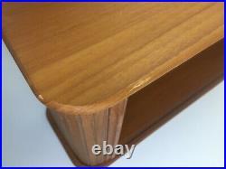 Vtg EID Mid Century Teak Roll Top Tambour Door Storage Cabinet Desk or Wall