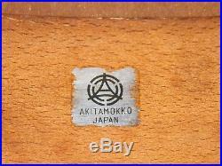 Vtg Isamu Kenmochi for Akita Mokko Mid Century Modern Bent Wood Foot Stool Retro
