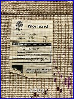 Vtg Mid Century 50's 60's Norland JHS Rya Floor Rug Retro MCM Atomic Spaceage