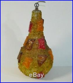 Vtg Mid Century Modern Hanging Swag Pendant Lamp Rock Candy Ceiling Light Retro