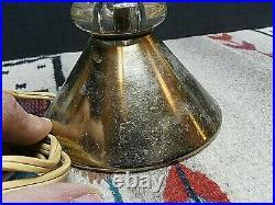 Vtg Mid Century Modern MCM Satellite Atomic Lamp Sputnik Clear Glass