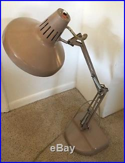 Vtg Mid-Century ModernINDUSTRIAL LUXO LAMP ArticulatingWeightedMCMRetro