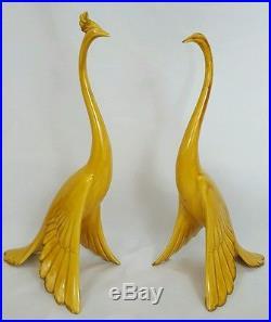 Vtg Mid Century Pair of Birds Anthony Freeman McFarlin California Pottery Retro