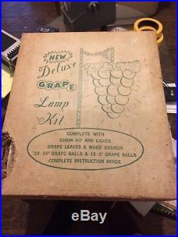 Vtg Mid-Century Retro Lucite Grape Cluster Driftwood NOS
