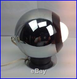 Vtg RAAK 70s Chrome Eyeball Space Desk Table Lamp Retro Light Mid-Century Modern