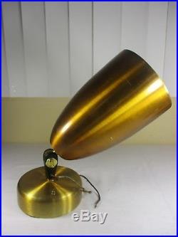 Vtg STUNNING Mid Century Modern Gold Cone Spot Light Ceiling Fixtures Lamp Retro