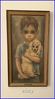 Walter Margaret Keane Big Eyes Boy with Dog- No Dogs Allowed